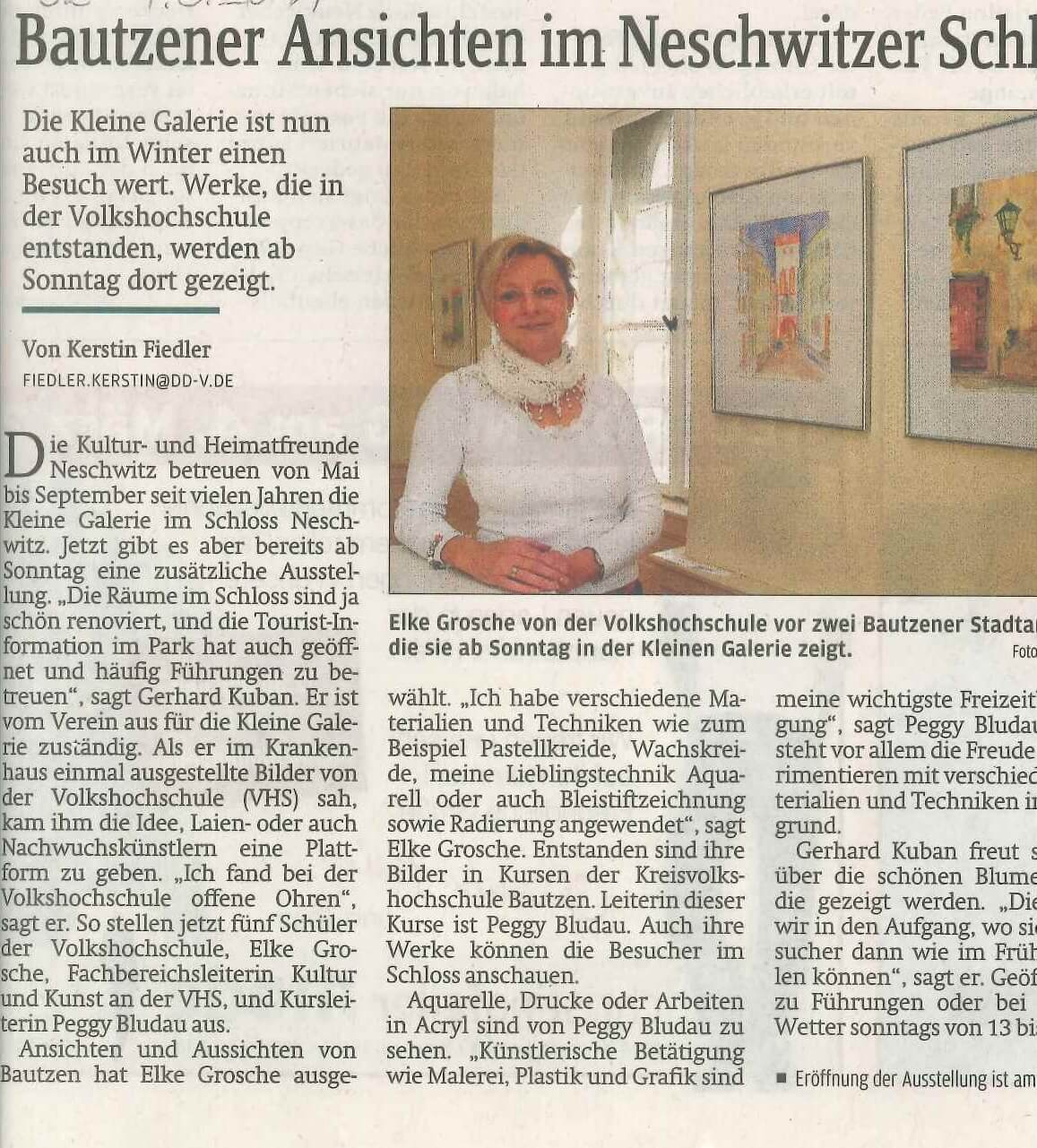 Ausstellung im Schloß Neschwitz_Sächsische Zeitung 04032011