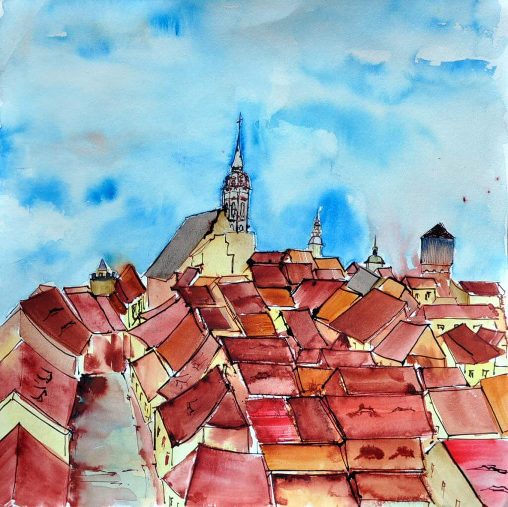 Bautzen Über den Dächern der Stadt